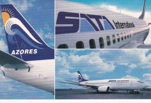 SATA International Airlines Boeing 737/300 Jet Airplane , Azores , 80-90s