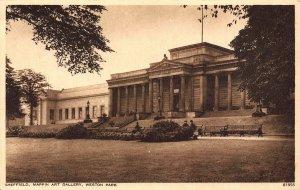 Sheffield Mappin Art Gallery Weston Park Postcard