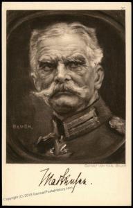 Germany WWI General Mackensen Artist Signed Portrait Ostpreussenhilfe East 77382