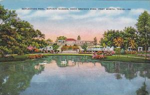 Reflection Pool, Botanic Garden, Rock Springs Park, Fort Worth, Texas,   PU-1945