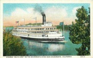 California Delta King Steamer Sacramento River Postcard McDougal Teich 12568
