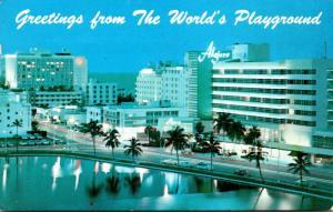 Florida Miami Beach Night View
