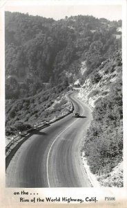 LPS85 California Rim of the World Highway Frashers Postcard RPPC