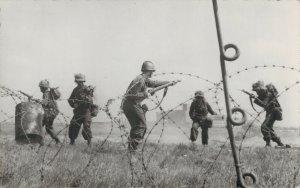 Military Dutch postcard Geweervechten RPPC 3.30