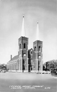 Salina Kansas Sacred Heart Church Real Photo Antique Postcard J79894
