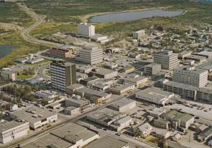 Aerila view , Downtoan , YELLOWKNIFE , N.W.T. , Canada , 50-60s