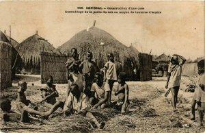 CPA AK Fortier 656 Construction d'une case SENEGAL (812181)