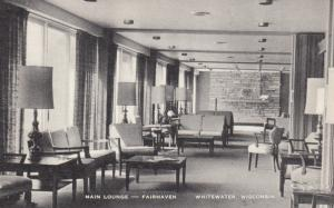 WHITEWATER, Wisconsin, 1930s; Main Lounge - Fairhaven