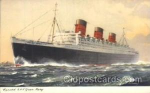R.M.V. Queen Mary Cunard Ship Ships Postcard Postcards  R.M.V. Queen Mary