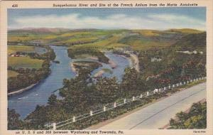 Susquehanna River And Site Of The French Azilum From The Marie Antoinette Bet...