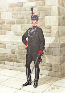 Military Art Postcard Officer Royal East Kent Mounted Rifles 1910 #3-4