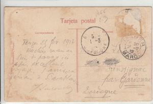 Morocco Tanger grand Soko market 1912 postcard