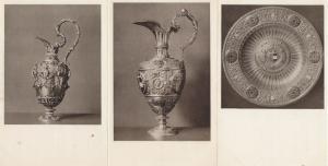 Wien Schafzkammer Chalice Plate Dish Silver Royal Regalia 3x German Postcard s