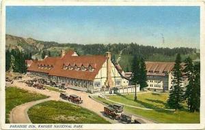 WA, Rainier National Park, Washington, Paradise Inn, Early Autos, # T-17
