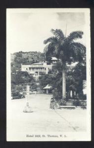 RPPC ST. THOMAS VIRGIN ISLANDS HOTEL 1829 VINTAGE REAL PHOTO POSTCARD V.I.