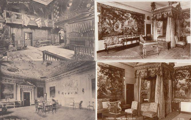 Tapestry Room Blair Castle 2x Real Photo 4x Old Postcard s