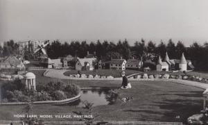 Home Farm Model Village Hastings Vintage Real Photo Postcard