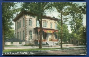 YWCA building Montgomery Alabama al postcard postmarked 1913