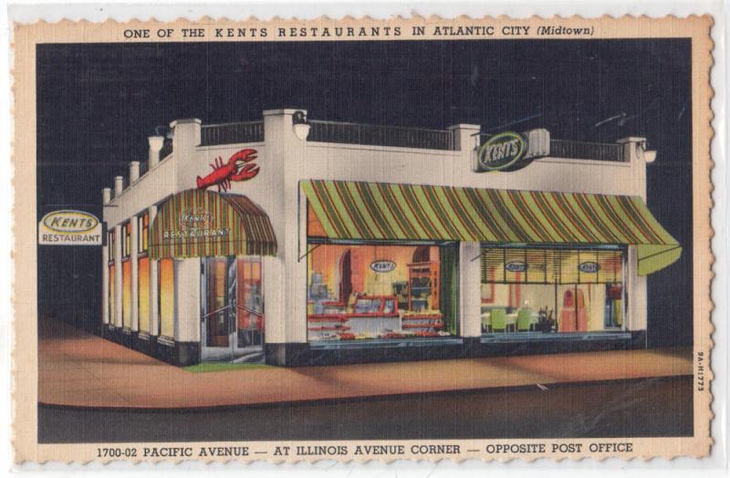 Kents Restaurant Atlantic City Nj Hippostcard