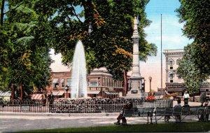 Ohio Elyria Fountain In Ely Park