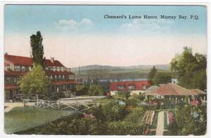 Chamard's Lorne House Murray Bay Quebec Canada postcard