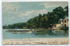 Bemus Point Chautauqua Lake New York 1906 postcard