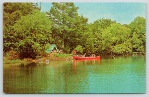 Oklahoma City~George H Kimball MD: Favorite Fishing~Lake Necheva~Tent~Canoe~1965