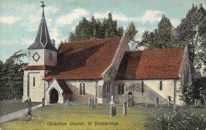 Chilbolton Church Nr Stockbridge Graveyard Postcard