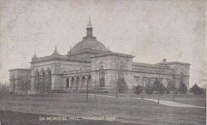 Memorial Hall (Exterior), Philadelphia, Pennsylvania, 1900-1910s