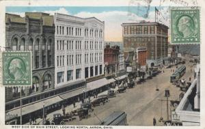 AKRON , Ohio , 1921 ; West side of Main Street