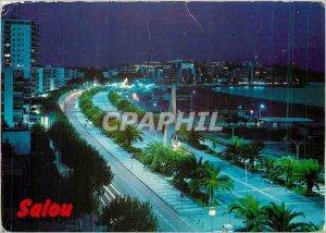 Postcard Modern Tarragona Costa Dorada Salou Promenade Jaime