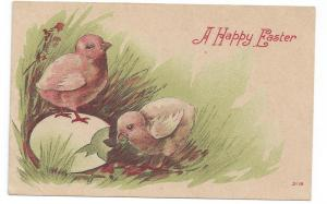 Vintage Easter Postcard Chicks Cracked Egg Lithograph