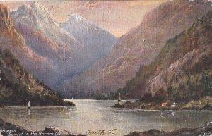 NORWAY, PU-1907; Sunset In The Hardanger