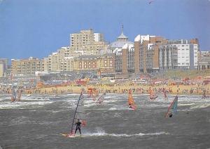 Netherlands Scheveningen Het Kurhaus Casino Beach Surfers Plage Panorama