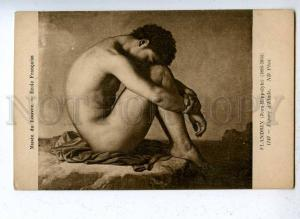 203645 NUDE Young Man by FLANDRIN Vintage postcard