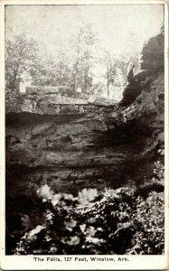 Vtg Cartolina 1910 Winslow Arkansas Ar Fountainhead Falls - Duncan Pharmacy Pub
