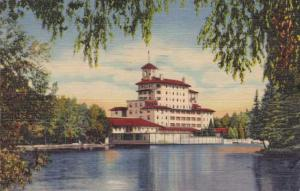 Broadmoor Hotel from the Lake - Pikes Peak Region, Colorado pm 1949