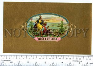 500078 BOCCA de CURA Vintage embossed cigar box large label