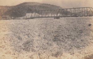 RP: SPRINGFIELD , Vermont , 1910s ; Ice & Bridge
