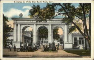 Savin Rock CT White City Entrance Arches c1920 Postcard
