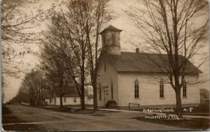 Millersburg Indiana~Reformed Church~Ministering Where the People Live~1908 RPPC