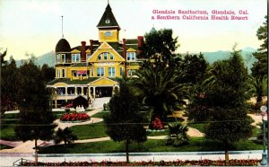 Glendale Sanitarium Glendale California Vintage Postcard Standard View Card