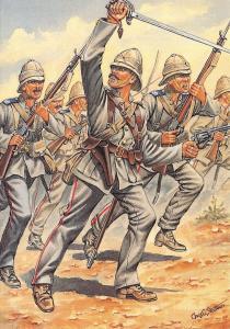 Postcard Uniforms of The Royal Marines Light Infantry 1884, Tamaii, Sudan #37-4