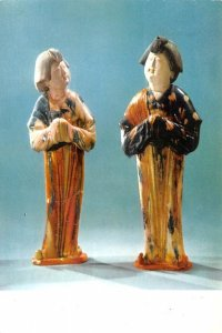 Tree colour glazed female figuriens, Tang Dynasty China, People's Republic of...