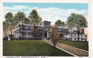 North Carolina Hendersonville Fassifern School Curteich
