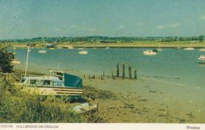 Boats at Hillbridge On Crouch Near Southend Essex 1970s Rare Postcard