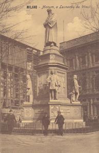 MILANO, Lombardia, Italy, 1900-1910´s; Monum, A Leonardo Da Vinci