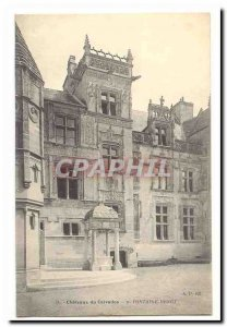 Chateaux Calvados Old Postcard Fontaine Henry
