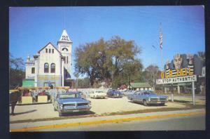 ST. AUGUSTINE FLORIDA THE OLD JAIL 1965 PONTIAC GTO BONNEVILLE VINTAGE POSTCARD