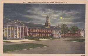 South Carolina Greenwood Greenwood High School By Night